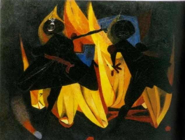 Los niños jugando con fuego