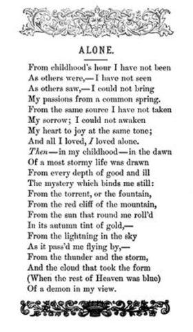 Edgar writes his first poem