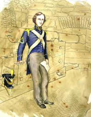 Poe inlists in the army and shortly after his first book is published