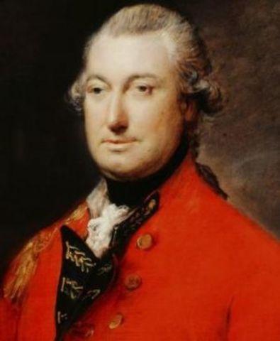 Cornwallis finally raises the while flag