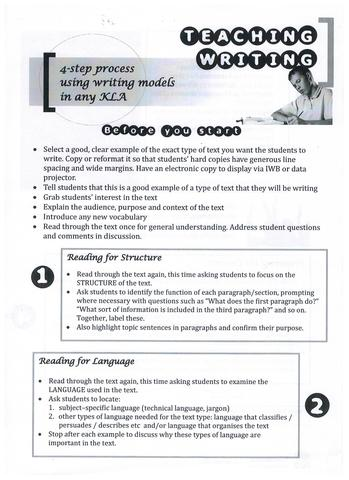4 Step Process for Writing Professional Learning