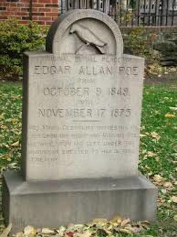 Edgar Allen Poe Dies.