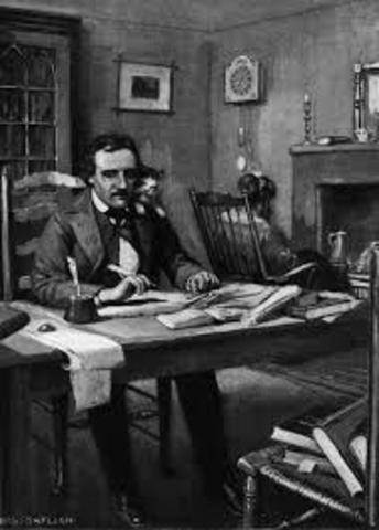Poe writes his first poem