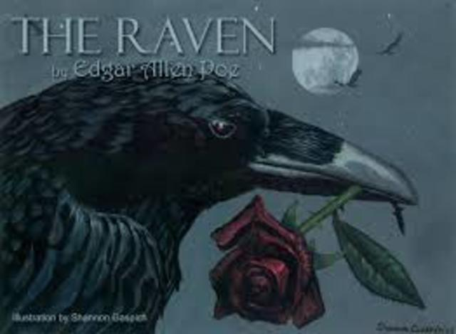 1845 Poe publishes the poem, The Raven