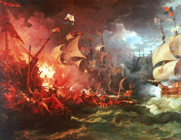 Spanish Armada destroyed