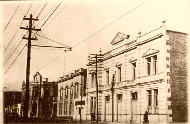 Red telegráfica con ferrocarril