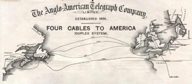 Cable telegráfico transoceánico.