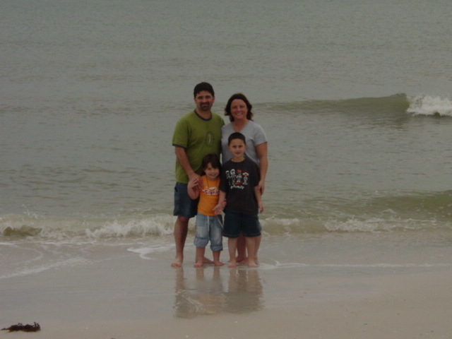 On the beach in Florida