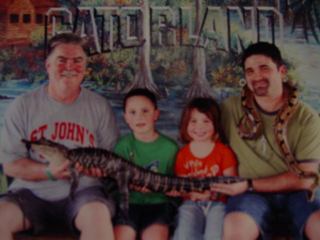 We held a crocodile in Florida