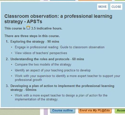 Lesson Observation cycle