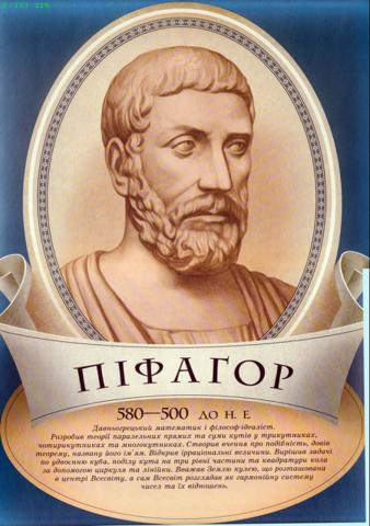 Пифагор Самосский 500 лет до н.э.