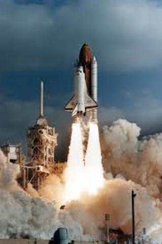 Launch of Hubble Space Telescope