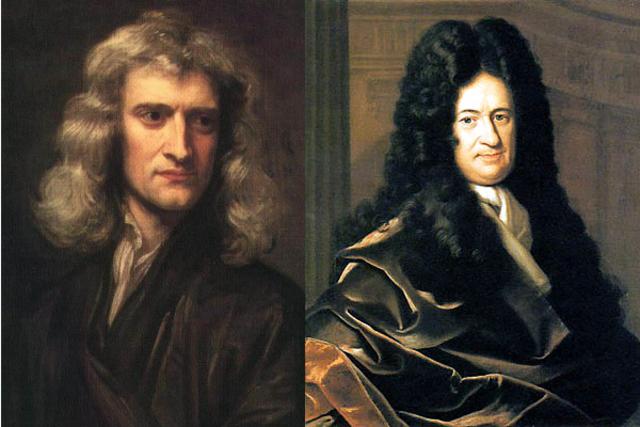 Исаак Ньютон и Вильгельм Лейбниц