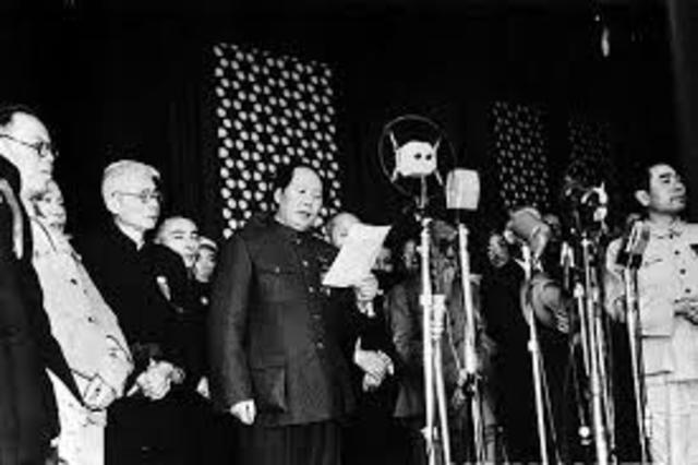 Establishment of the People´s Republic of China