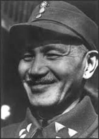 Chiang Kai Shek taken prisoner.