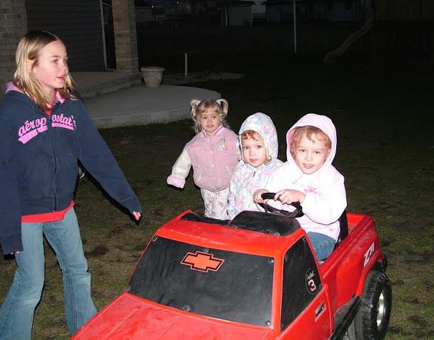 Racing around the yard