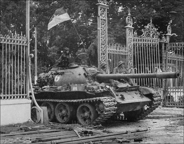 NVA rolls into Saigon