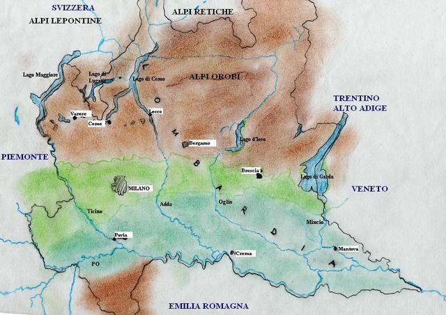 La Cartina Fisica Della Lombardia.La Storia Della Lombardia Timeline Timetoast Timelines