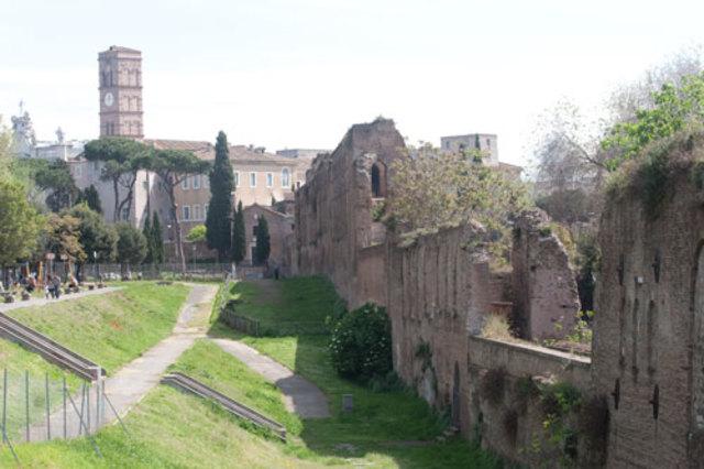 Den aurelianske mur omkring Rom