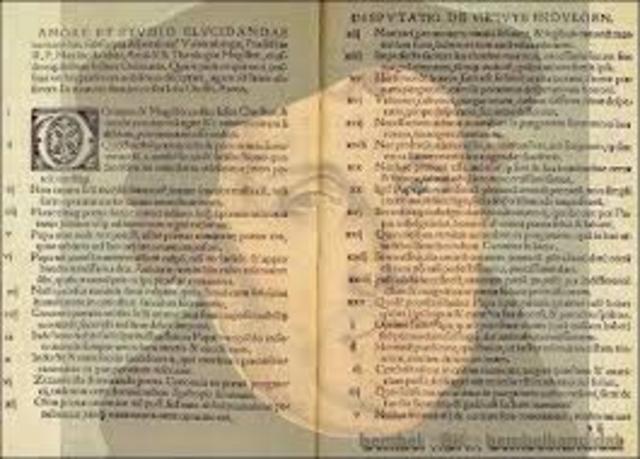 Luther veröffentlicht seine Thesen