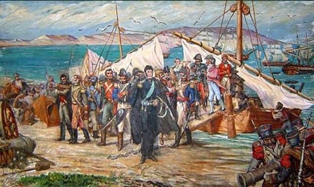 Se embarca la Expedicion Libertadora