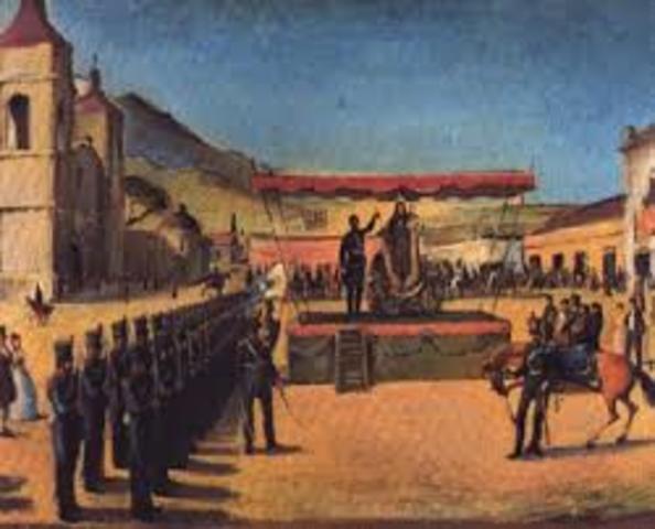 Jose de San Martin asume el mando