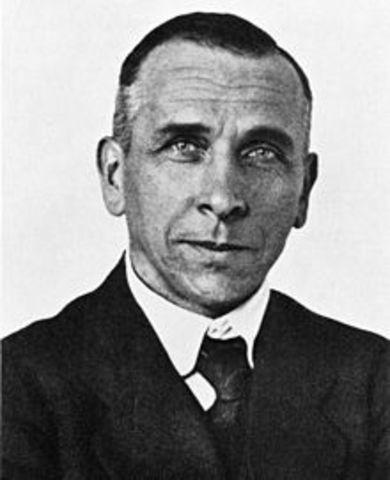 """Alfred Wegener desarrolla su teoría de la """"Deriva Continental"""""""