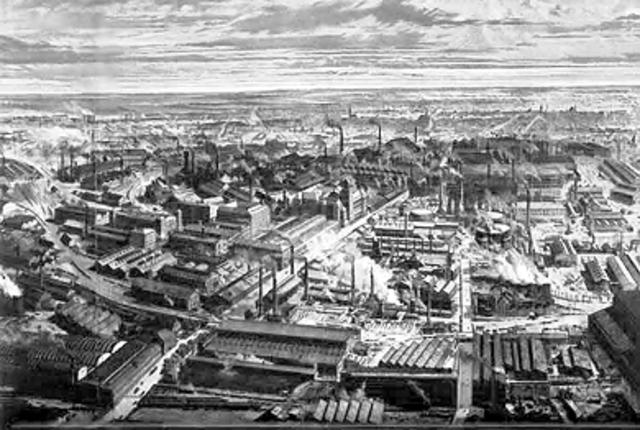 DESARROLLO INDUSTRIAL EN EL AÑO 1860
