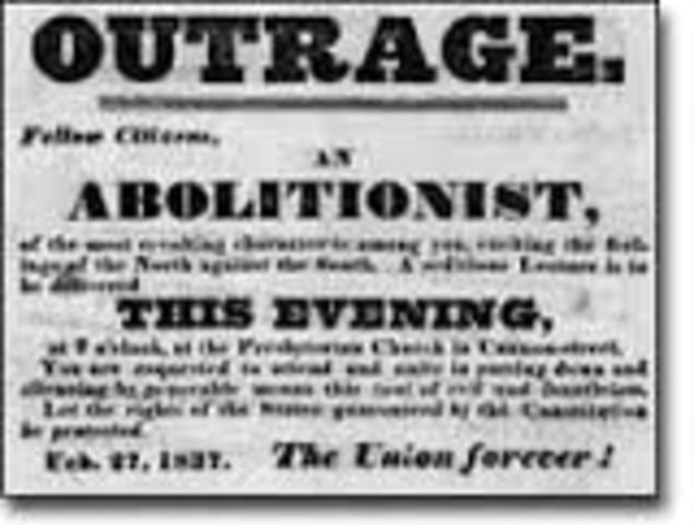 "William Lloyd Garison writess ""The Liberator"""