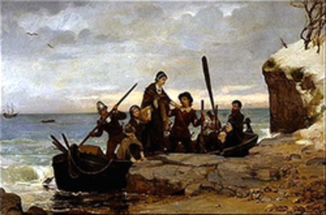 Mayflower Lands on Plymouth