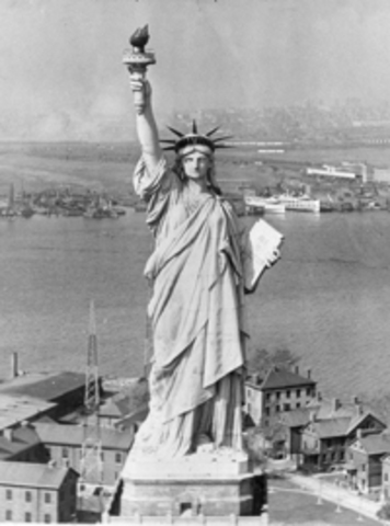 The Statue of Liberty is Unveiled