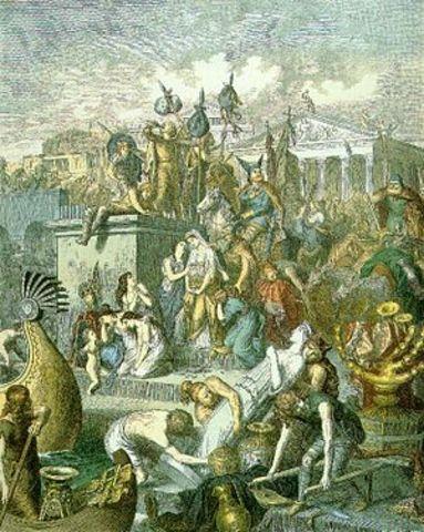 Vandalerne plydrer Rom og besætter Sicilien