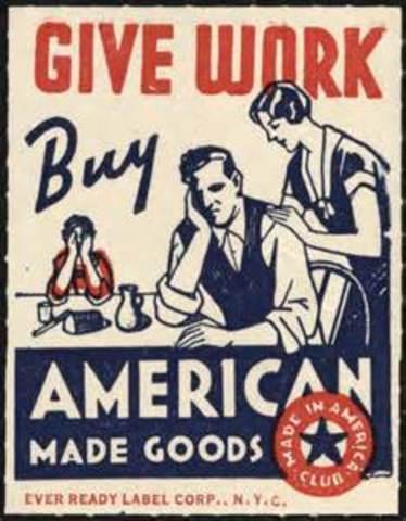 British flood goods into America