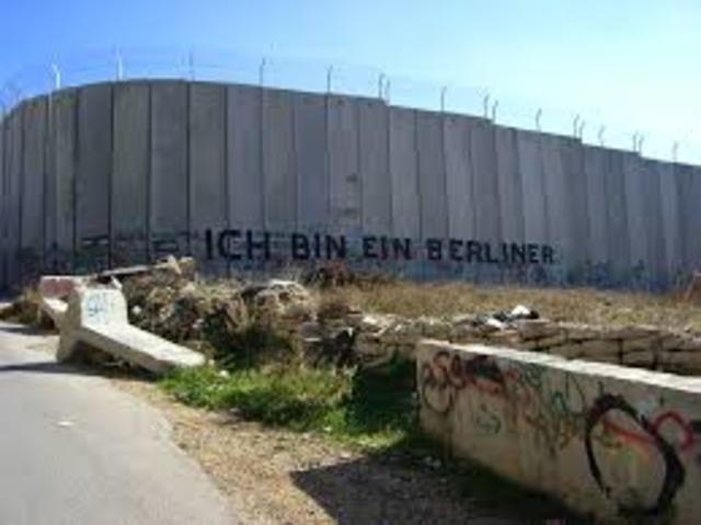 Opførelse af Sikkerhedsmur fra Israels side