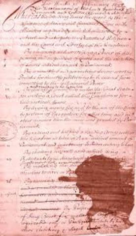 Engish Bill of Rights of 1689