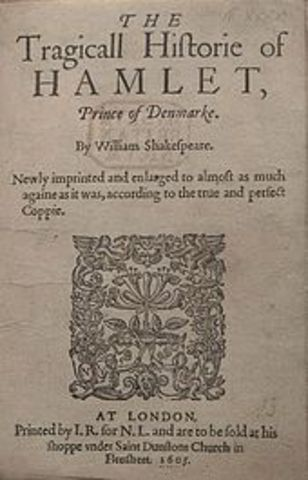Shakespeare's Hamlet is published