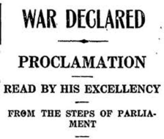 UK Declares War on Britian