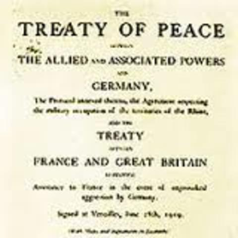 Treaty of Versailles is Signed