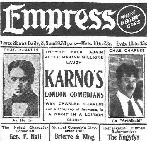 Chaplin Tours with Karno