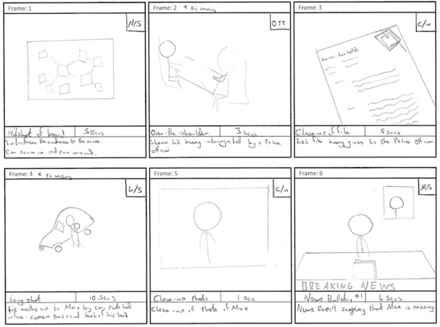 Storyboard and drafts