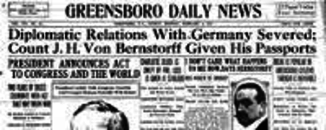 US Severs Ties with Germany