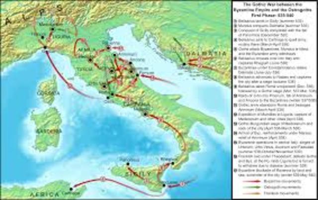 Gothic War in Italy