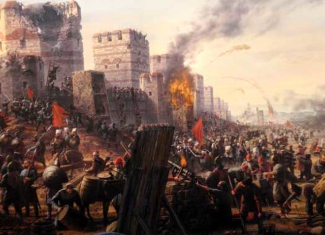First Arab siege of Constantinople.