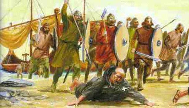 Sack of Lindisfarne. Viking attacks on Britain begin.