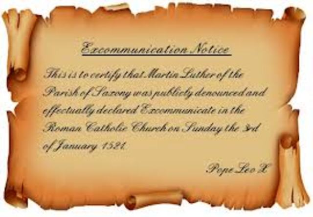 Luther's Excommunication on process