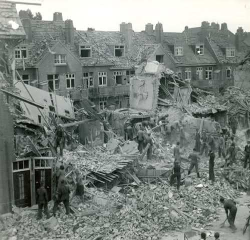 North Amsterdam is bombed