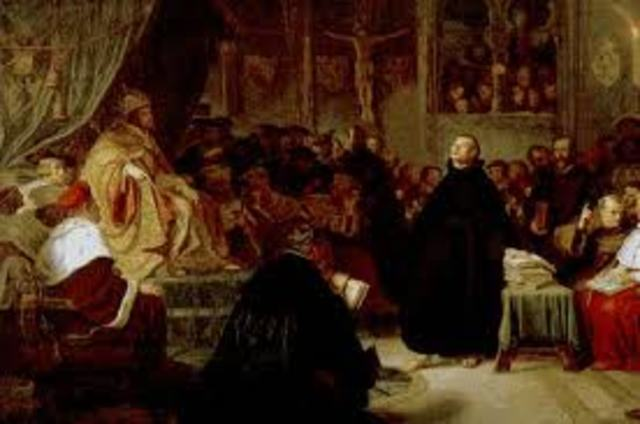 Luther summoned before the Diet of Worms