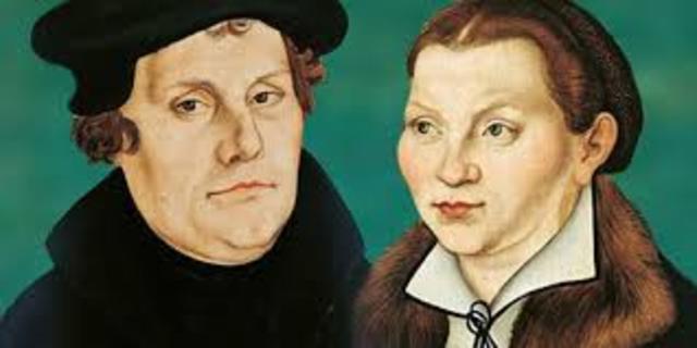 Luther marries Katharina von Bora