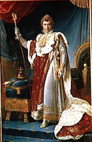 Napoleon crowned and proclaimed Emperor in France