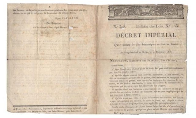 Berlin Decree signed